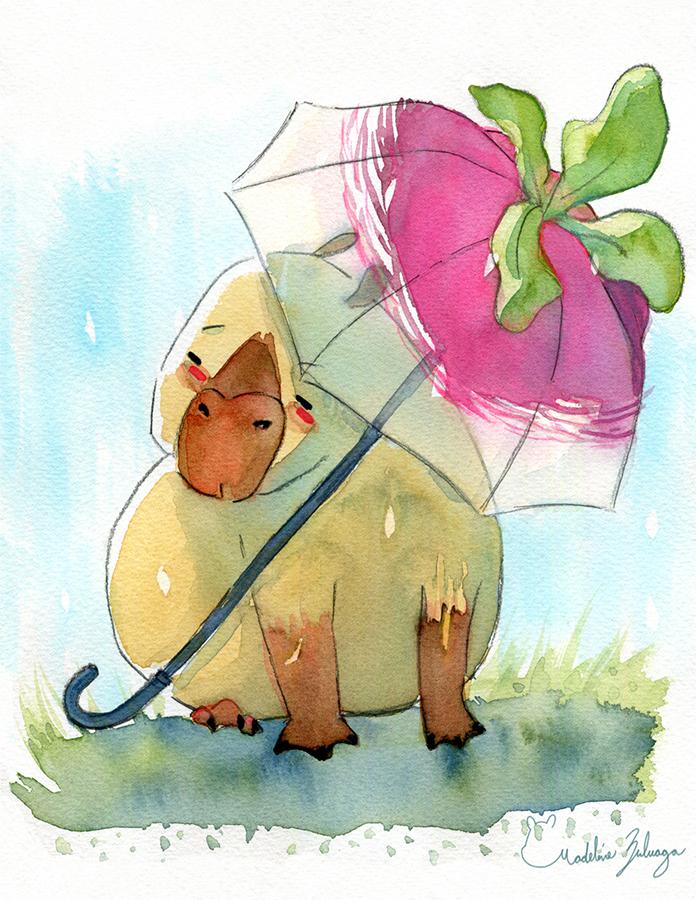 Madeline-Zuluaga-Capybara-and-its-turnip-umbrella-resized.png