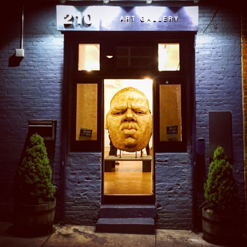 Photo by: Aaron Simms  Sculpture: Tanda Frances' Biggie. may2016 Design Noir curated by Dave Jones