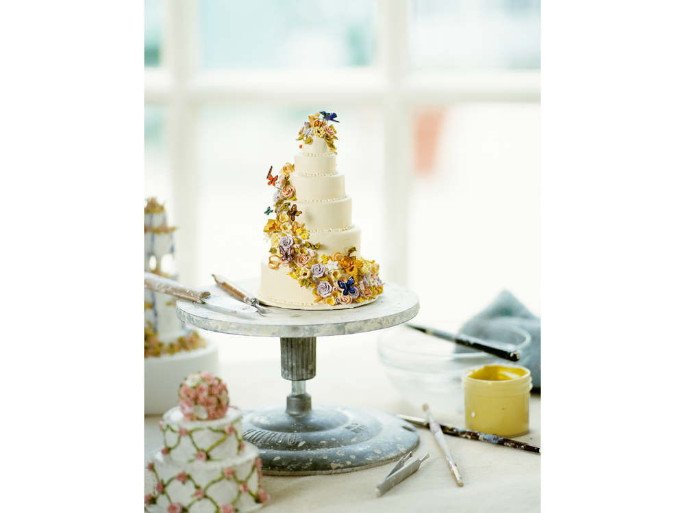 Editorial photograph by Craig Anderson for magazine of miniature ceramic wedding cake