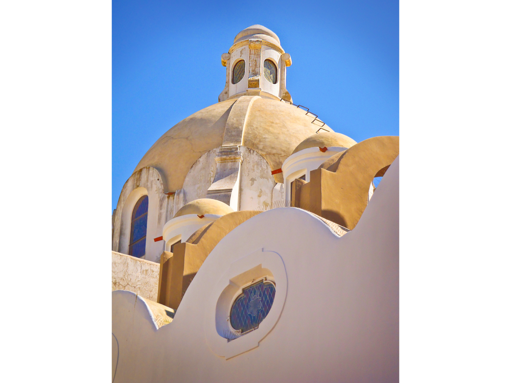 Architectural shot of Italian domed building