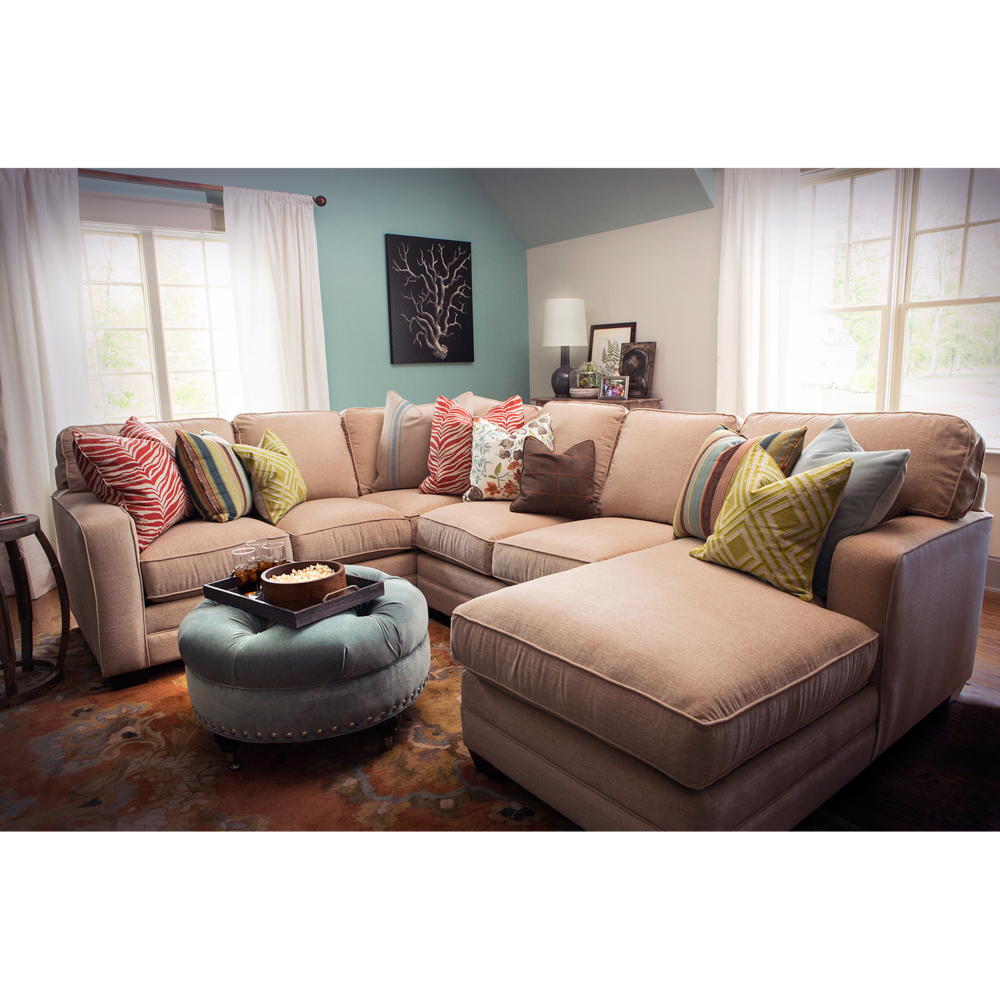 Bassett family room furniture photographed for website use