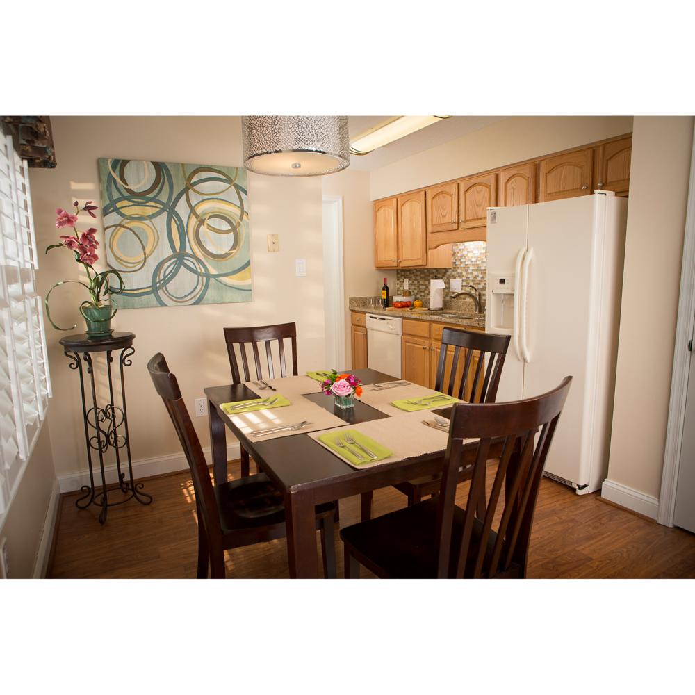 Kitchen photo with table and chairs