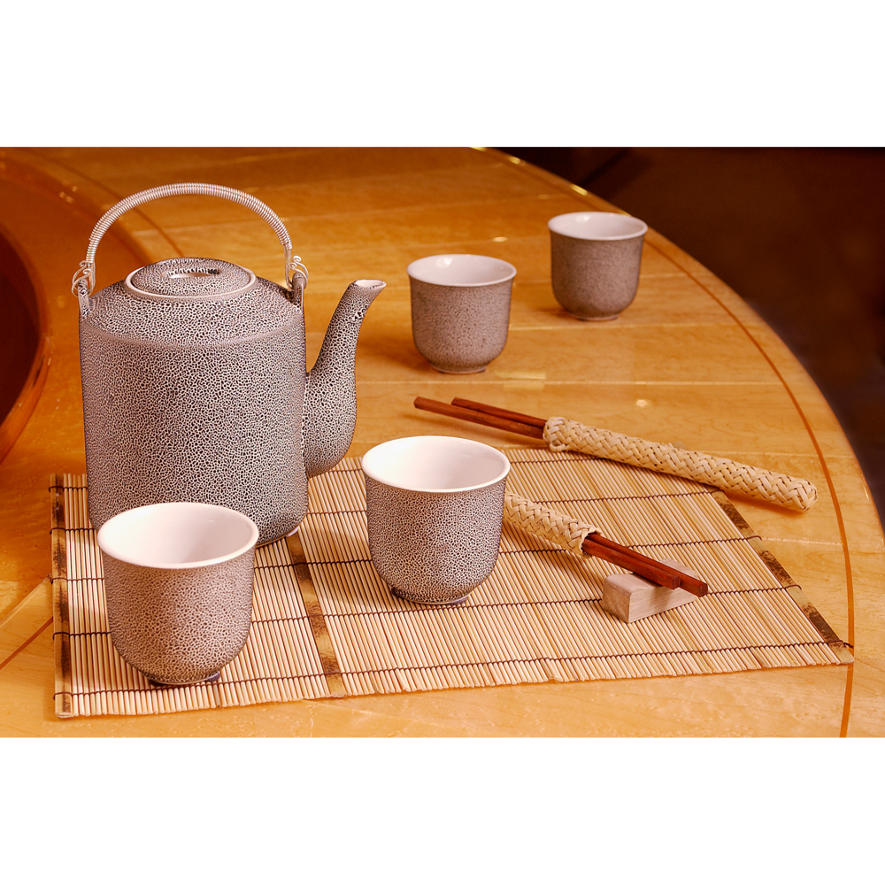 Photo of tea set with chopsticks for e-commerce product sales