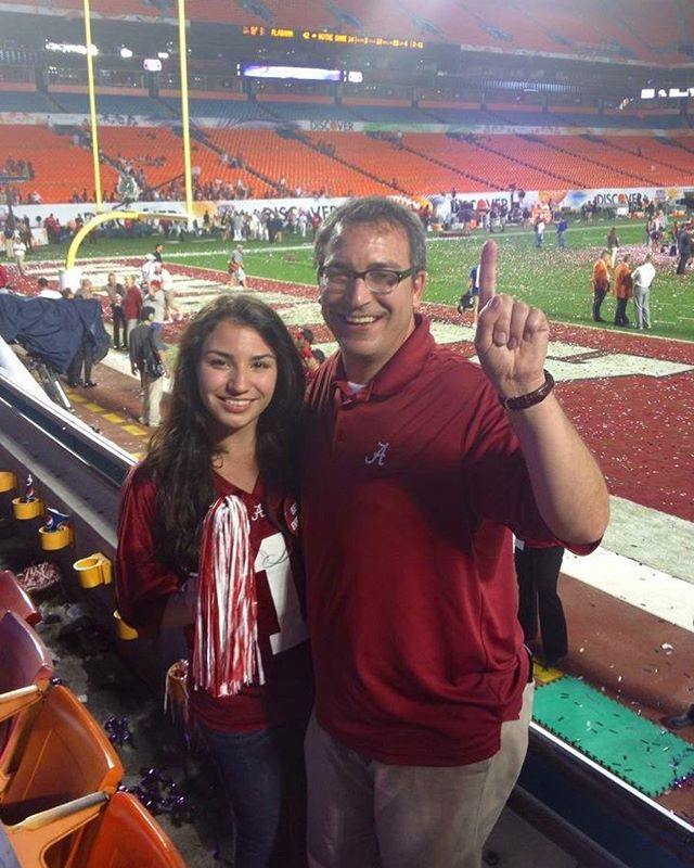 5(!!!) years ago, my Dad and I got to go to Miami and see the Tide DESTROY Notre Dame for their 3rd national championship while I was a student. The game turned out to be a dud (y'all remember Manti Te'o lol) but to get there, we had to play a well fought game against Georgia at the SEC championship, which ended up being one of my favorite games I've ever attended and weirdly, gave me a soft spot for Georgia. While obviously I'd like to see the dynasty continue and make the country even more bitter, I'm glad that if we lose, it'll go to the Dawgs and not OU. #RollTide . . . . . #alabama #crimsontide #nationalchampionship #secchampionship #south #football #throwback #ncaa #collegefootball #bcs #georgia #notredame #jersey #alabamafootball #ncaafootball #espn #rolltideroll #rtr #latergram #family #celebration #win