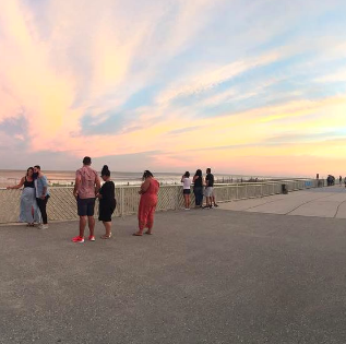 Sunset sky in Rockaway Beach