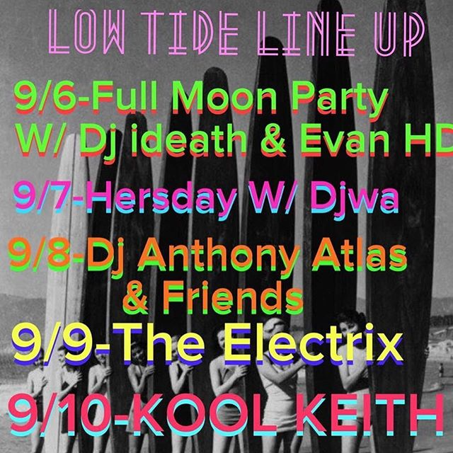 Check out what's happening at Low Tide Bar! @lowtidebar