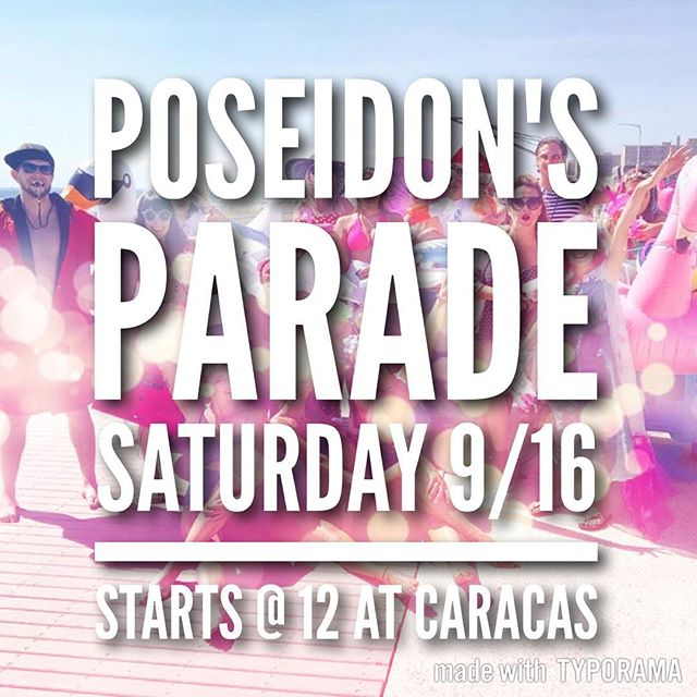 The Poseidon's Parade is THIS SATURDAY! You still have time to register to be in the parade!!!!! @poseidonsparade All three concessions will be OPEN! Entertainment 🎸 Food 🍔 Drinks 🍻 Family Fun 👨👩👧👦 @caracasarepabar @lowtidebar97 @rippers86