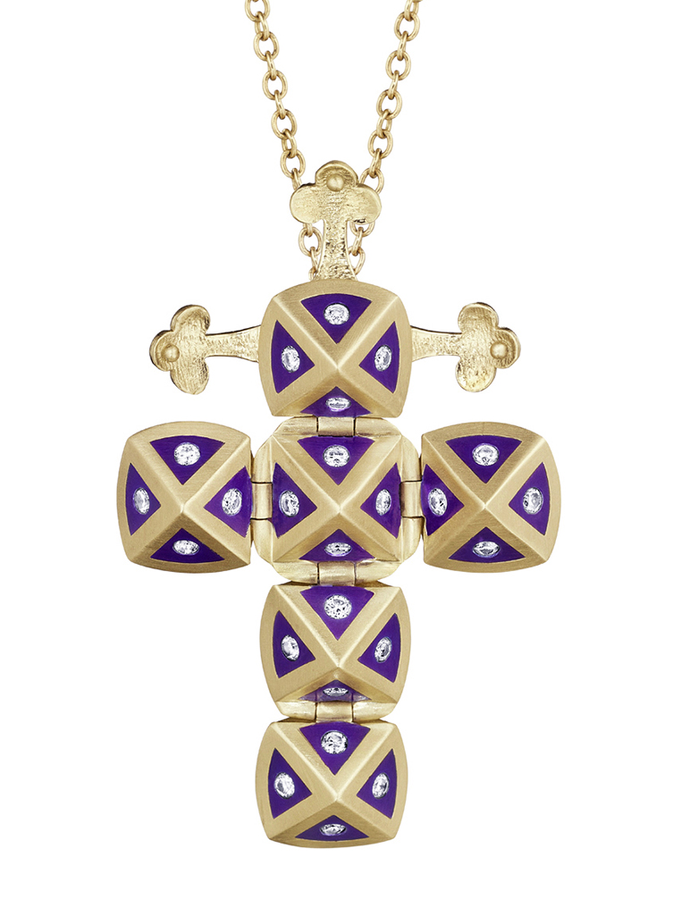 Cross.Ceramic.Purple.Yellow.Diamonds.jpg