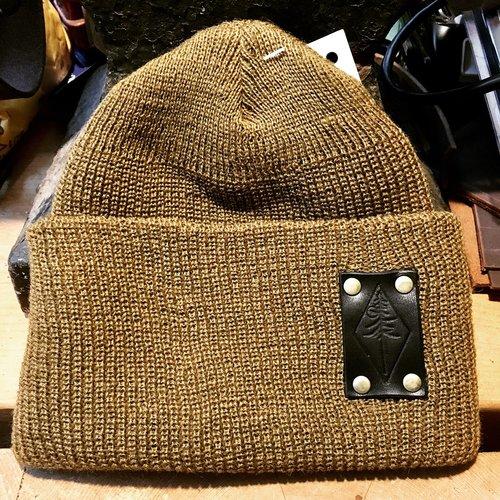 100 Wool Watch Cap Tan Pine Baron