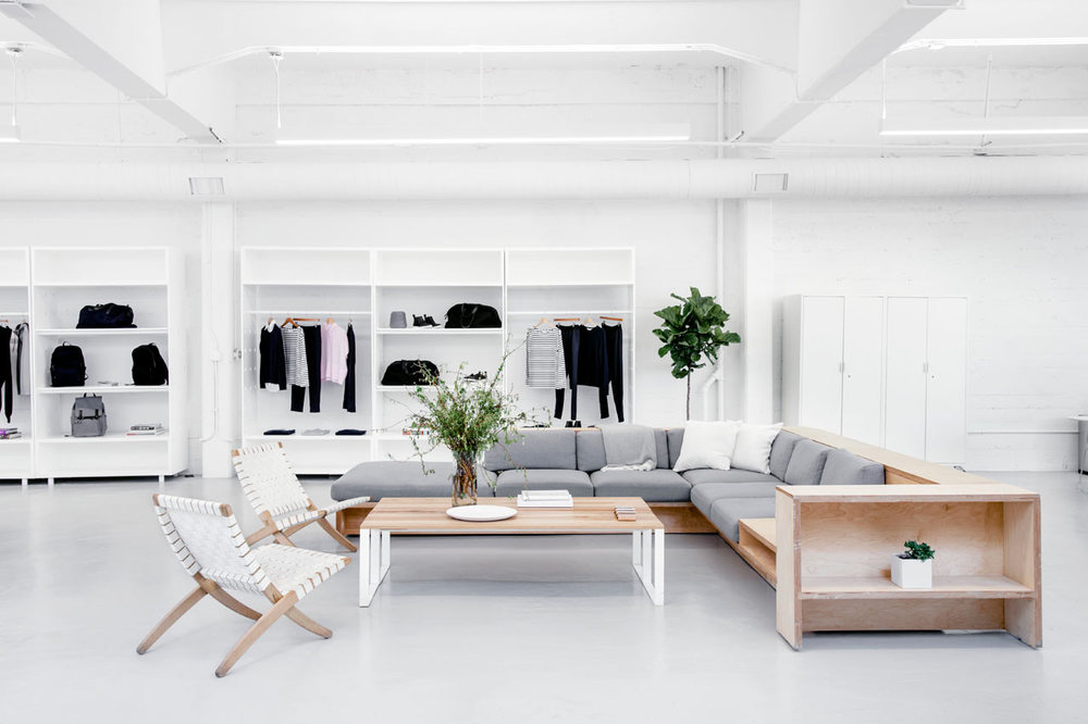 Everlane Showroom is a minimalist space located in San Francisco, California.