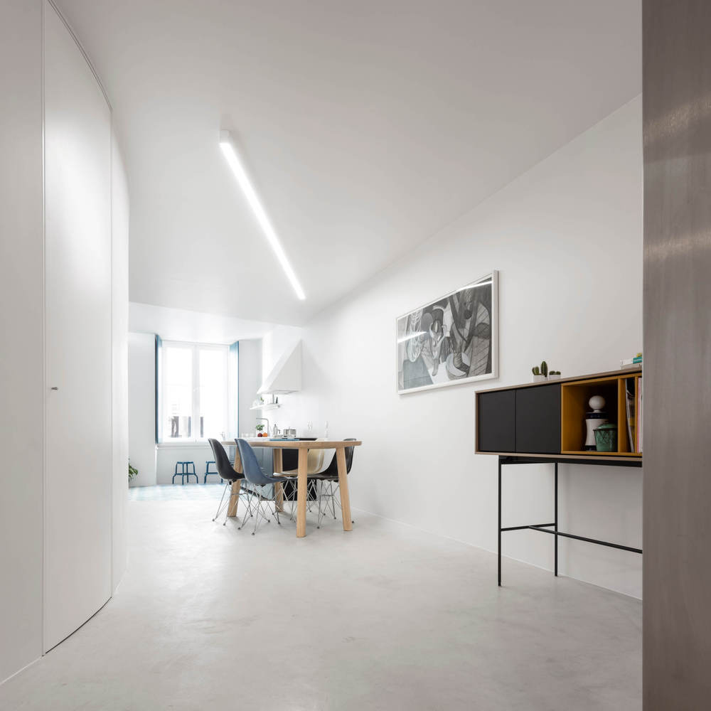 Chiado Apartment is a minimalist home in Lisbon, Portugal.
