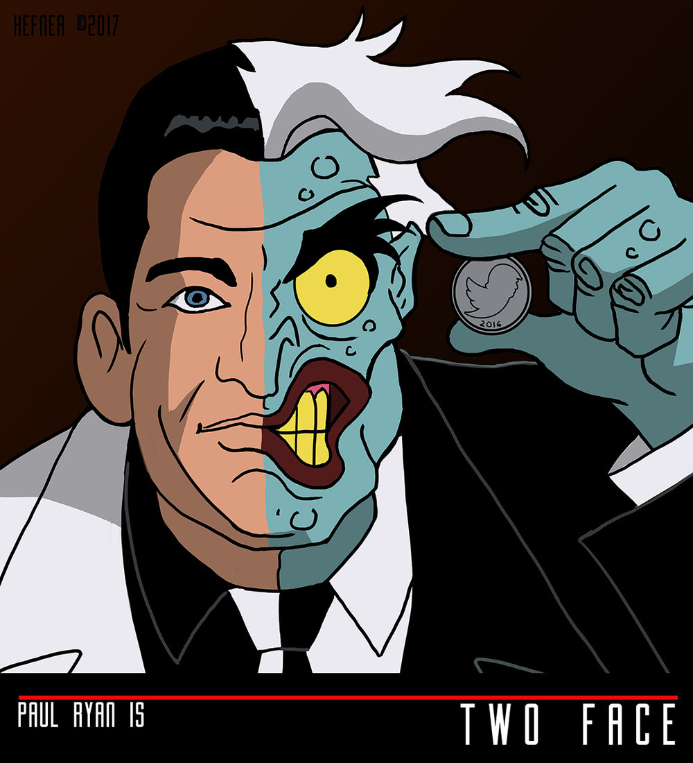The gop as batman the animated series villains hal hefner paul ryan as two face hal hefnerg buycottarizona Images