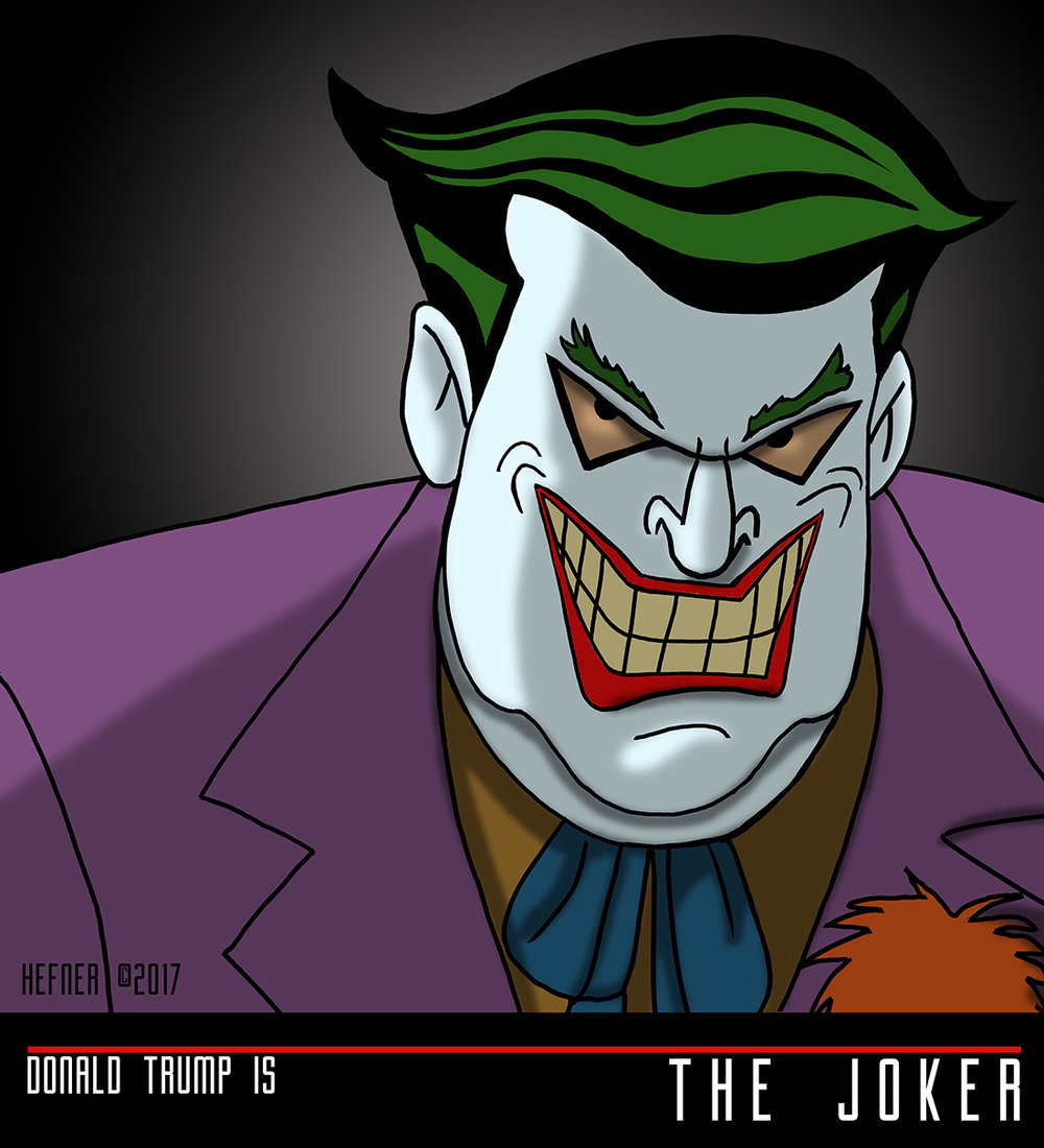 The gop as batman the animated series villains hal hefner donald trump as the joker hal hefnerg buycottarizona Images