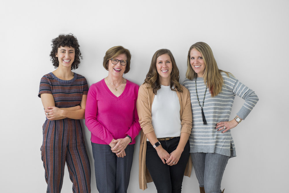 The JOC Lactation Consultant Team (left to right): Francesca Reinisch, Jane O'Connor, Jamie Mayer, Vanessa Prinz (photo by Shalimar Beekman)
