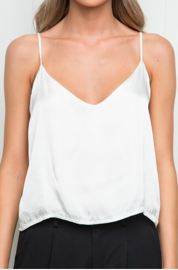 Silk Top from Brandy Melville (exact top not available online but something similar -  here )