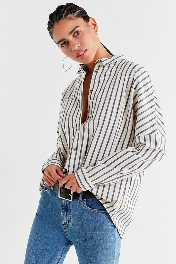 UO Relaxed-Fit Button-Down Shirt, $49.00
