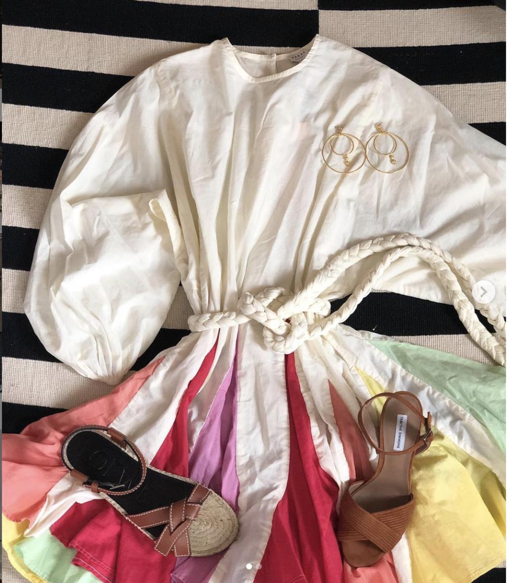 Ella Belted Pleated Minidress by Rhode Resort
