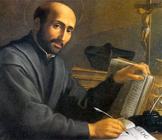 This is Ignatius of Loyola. He can write, read, and give you bedroom eyes all at the same time.