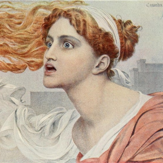 Cassandra by Anthony Frederick Augustus Sandys. Before 1904. Source: The Studio (October 1904): 13
