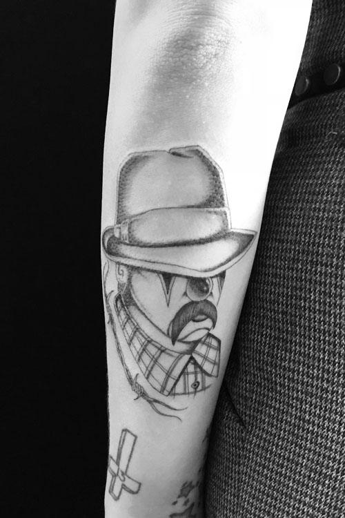 Jose Araujo Clown Barbed Wire Tattoo.jpg