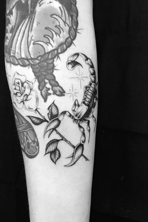 Jose Araujo Scorpion Rose Texas Tattoo.jpg