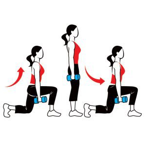 lunges-with-weights