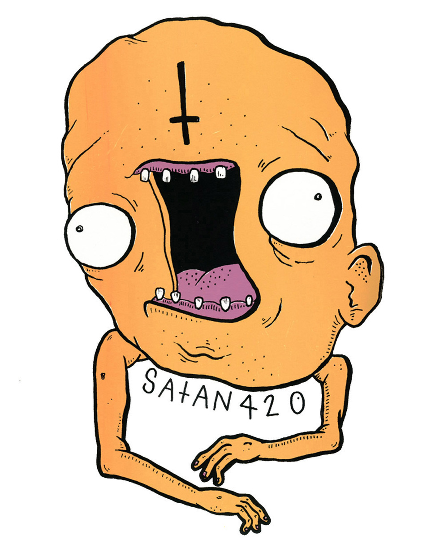 Satan 420 | Screen print, 14 x 17 inches | 2015