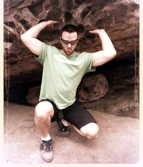 That's me during a hike in Allegheny State Park. (I just couldn't post the obligatory personal trainer photo with arms crossed in a polo shirt) What can I say, I'm a rebel.