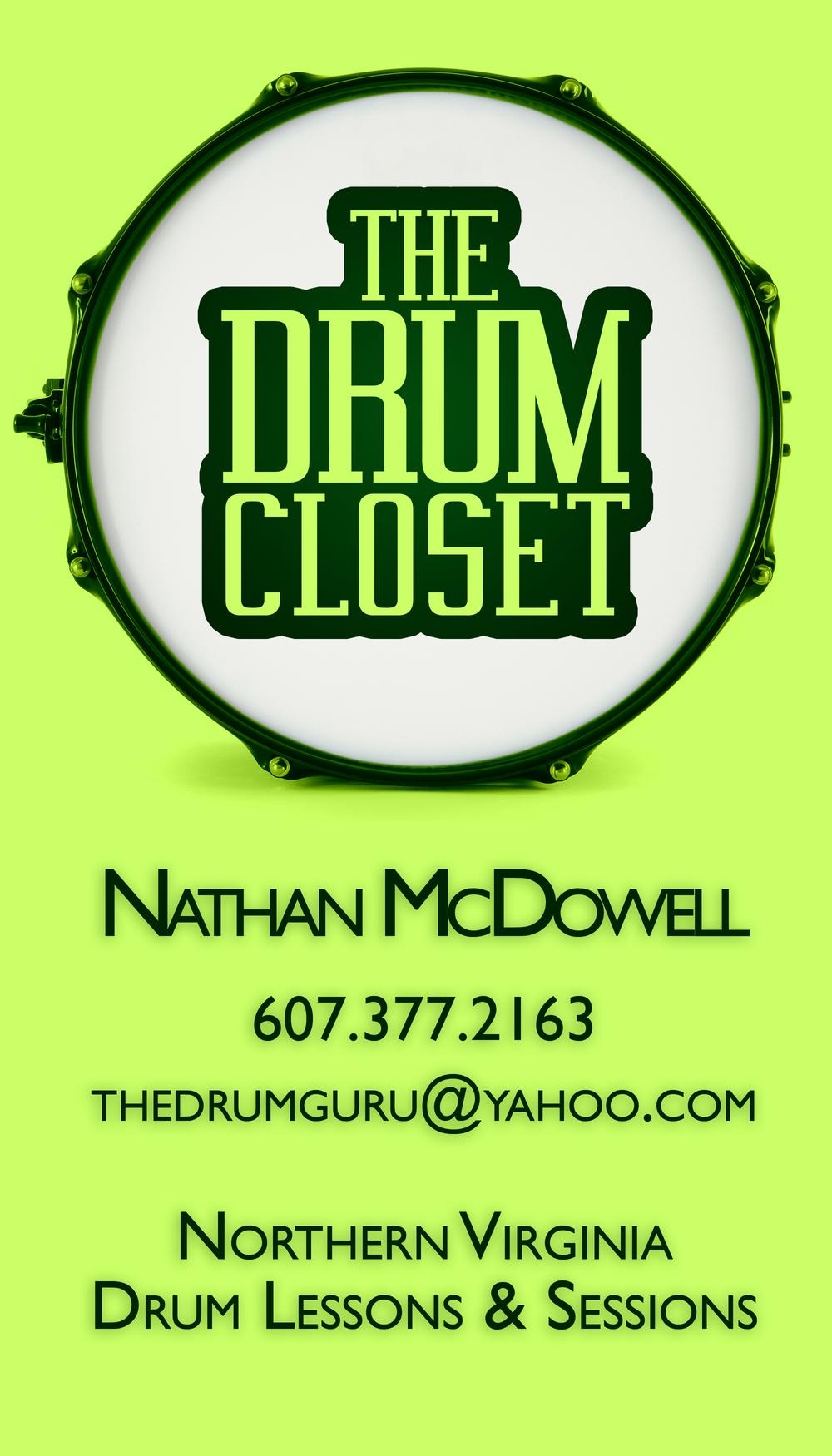 The Drum Closet - Business Card