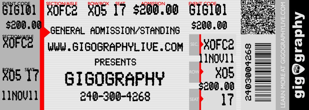 GigOgraphy - Business Card