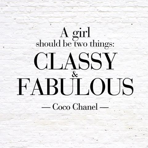 Some Tuesday inspiration from Coco 💕 #fabulousinsideandout #cocochanel #instainspo