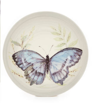 Southern Living Butterfly Earthenware Accent Salad Plate