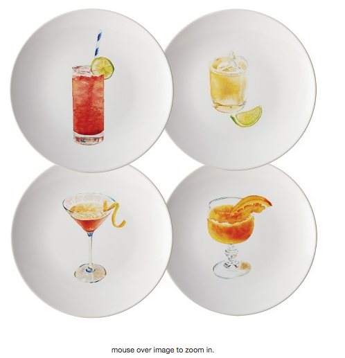 Rachael Ray Cocktails Salad Plate Set of 4