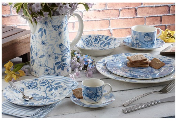 Bluebird Toile for Royal Stafford