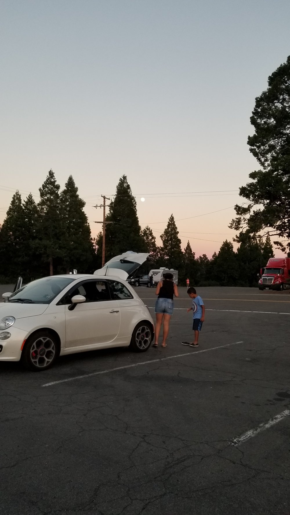 Me and my son at a rest area in Yosemite