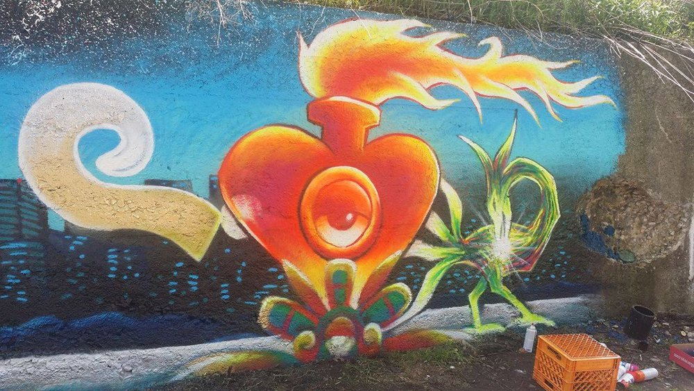 Mural project with guest artist and activist Daniel Panko - May 2016
