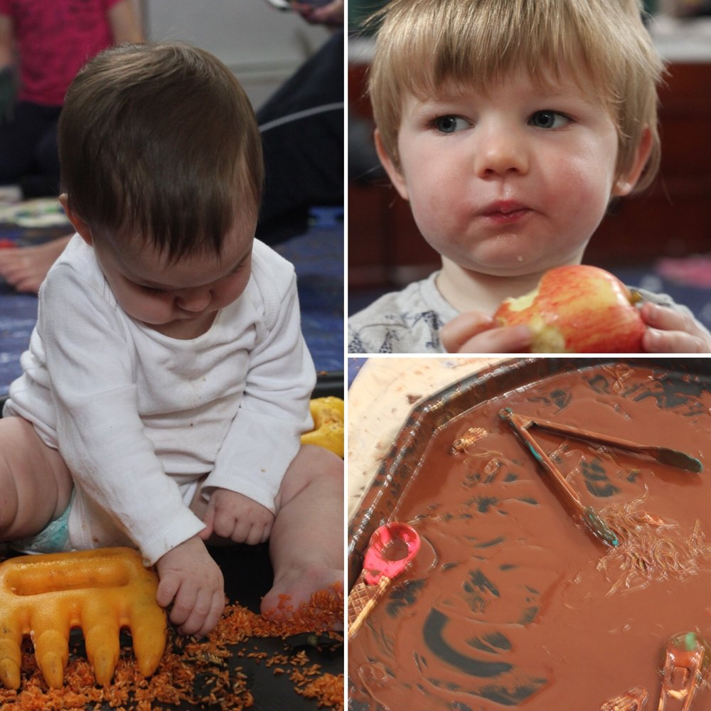 little-learners-preschool-classes-and-parties-a-baby-plays-with-rice-from-messy-play-mark-making-north-east-newcastle-north-tyneside