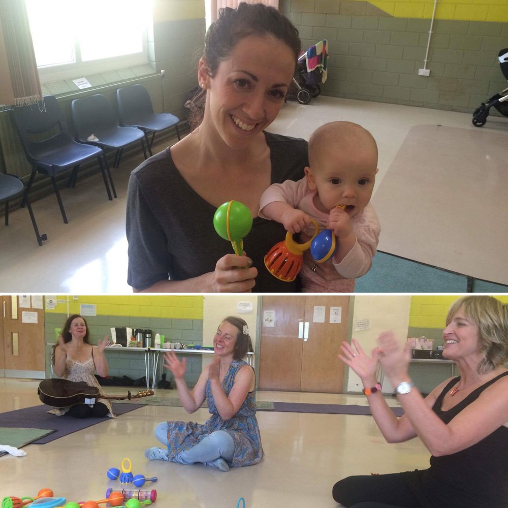 Kerry from An Honest Pregnancy...and Beyond, with baby Annabelle enjoying the Piccolo Music class in Winlaton