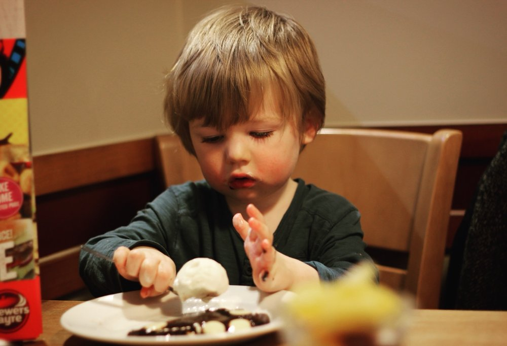 Toddlers eating out South Shields