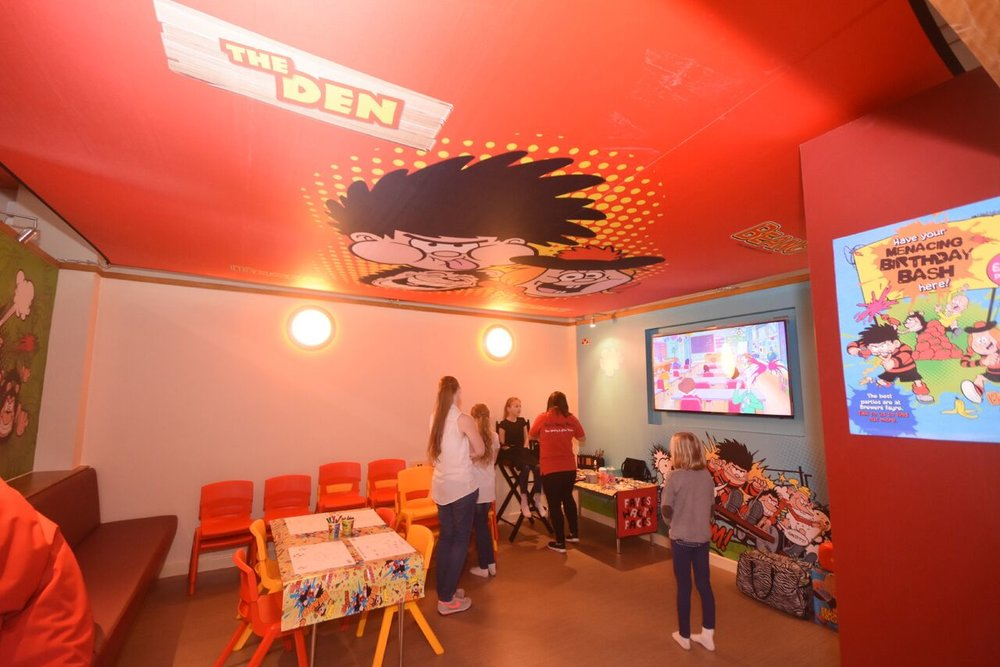 TV and crafting room at The Cinder Path - Soft Play and Restaurant in South Shields. Image by Craig Leng