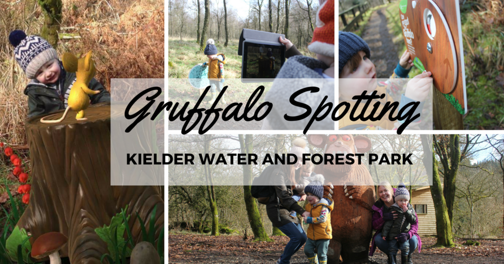 Gruffalo Spotters at Kielder Water and Forest Park. Places to take kids in Northumberland. Augmented reality.