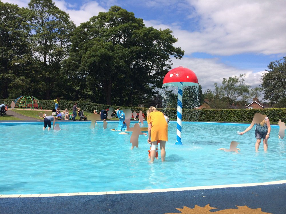 Carlisle Park paddling pool in Morpeth in 2015.
