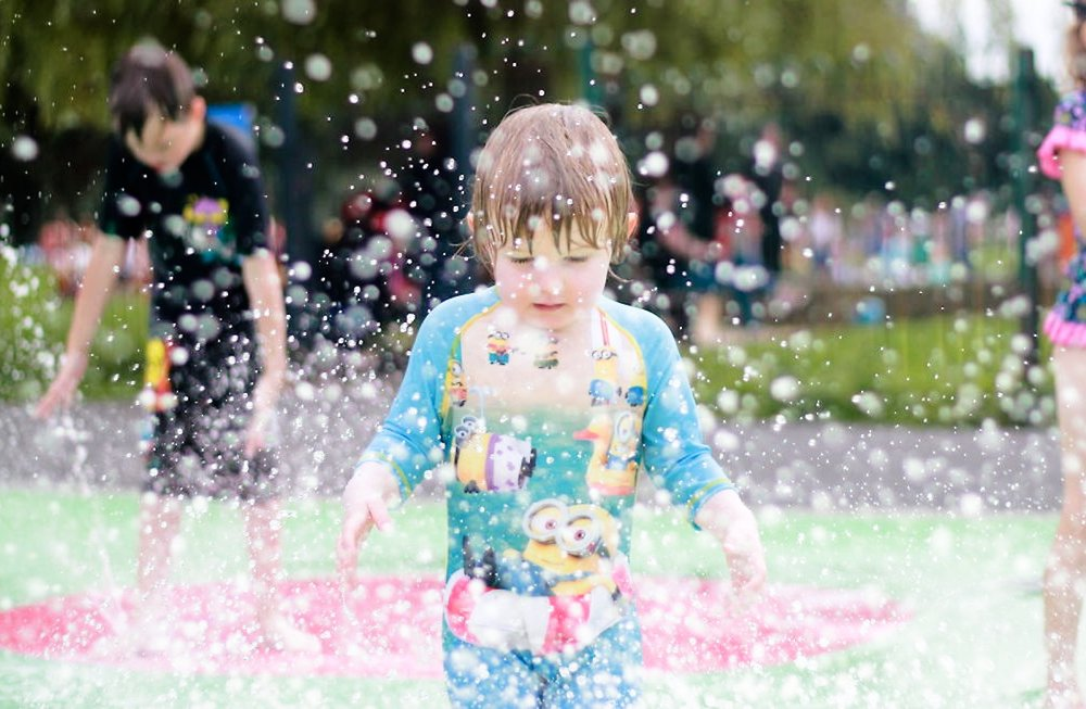 My Big Toddler, looking not so big here. Taken at Chester-le-Street splash pad in 2016.