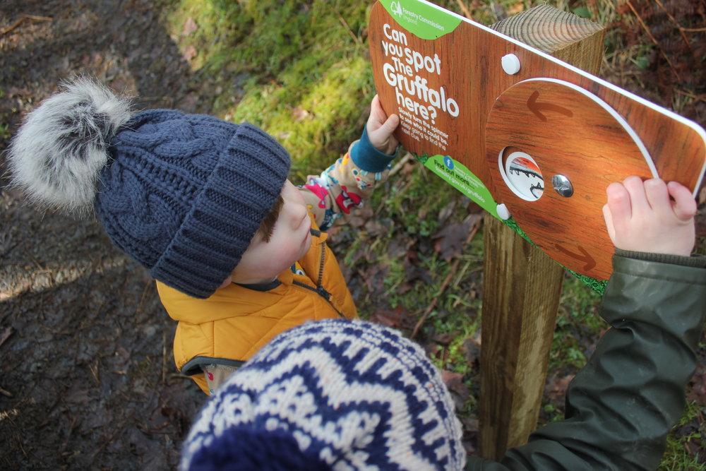 Kielder water Gruffalo Spotters Northumberland Kids