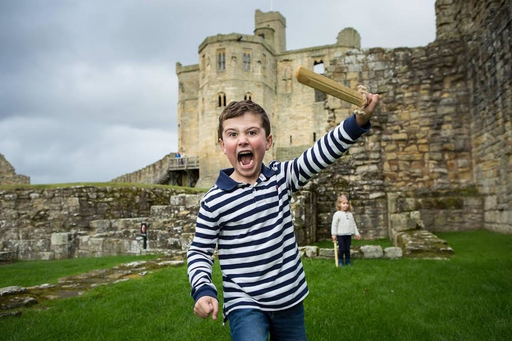 Samuel at Warkworth Castle