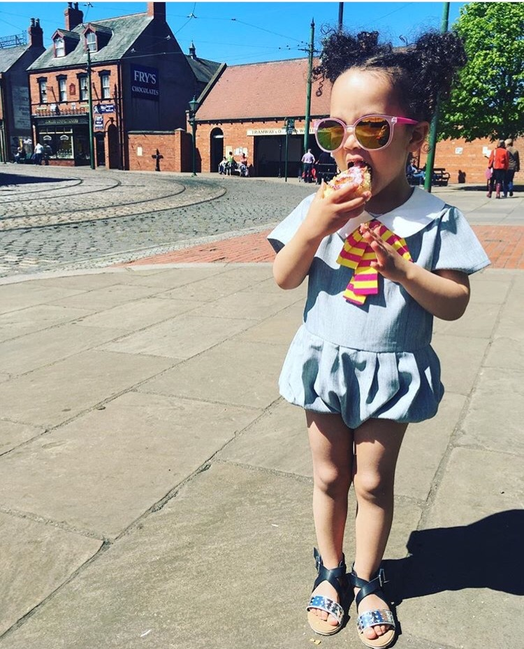Coco is just too cool for school at Beamish? This outfit is another from Curlystiltskin.