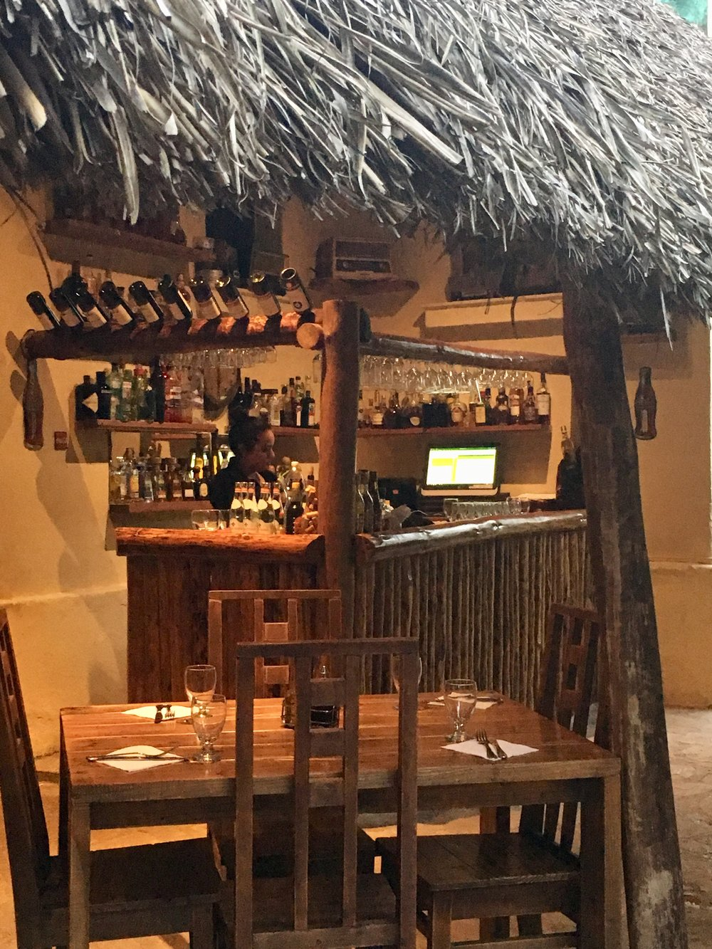 The bar inside a paladar