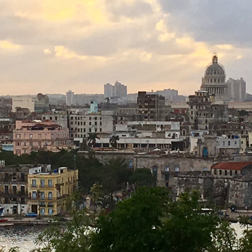 Hilltop view of Bay of Havana