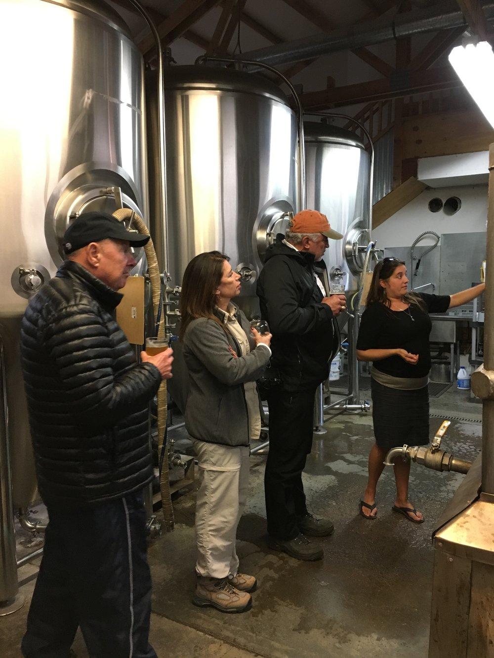 Becca Giving a Brewery Tour