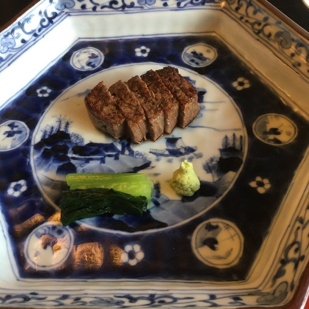 Charcoal-grilled Wagyu beef
